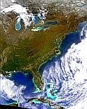 Image of The East Coast of the United States by SeaWiFS on 12 April 1998