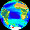 Image of The Global Biosphere (Atlantic Projection)