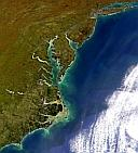 Image of The East Coast of the United States by SeaWiFS on 12 April 1998 - closeup view