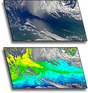 the South Atlantic horse latitudes as seen in MODIS imagery