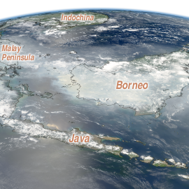 click for larger version of Borneo smoke image