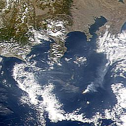 27 Feb. 2001 eruption plume from Miyake Jima