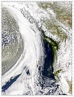A different Asian dust cloud approaches the Pacific Northwest on 11 April 2001