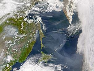 smoke from northeast Asia 17 May 2002