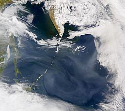 smoke from northeast Asia 18 May 2002