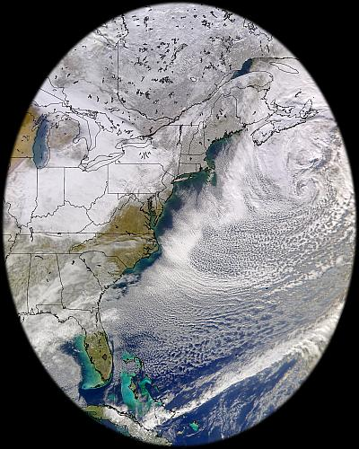 SeaWiFS view of eastern North America on 26 Dec. 2002