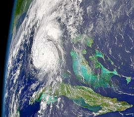 SeaWiFS image of Hurricane Charley on 13 Aug. 2004