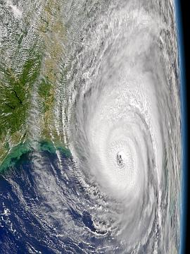 SeaWiFS view of Hurricane Ivan on 15 September 2004