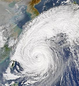 SeaWiFS view of Typhoon Tokage on 19 Oct. 2004