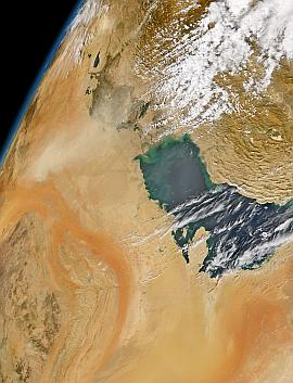SeaWiFS view of the Persian Gulf region on 22 Oct. 2004