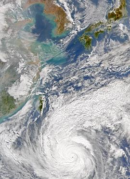 SeaWiFS view of Typhoon Namnadol on Dec. 2, 2004