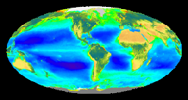 Global Biosphere Image from 6 years of SeaWiFS