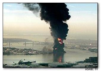 MSNBC photo of Staten Island fire